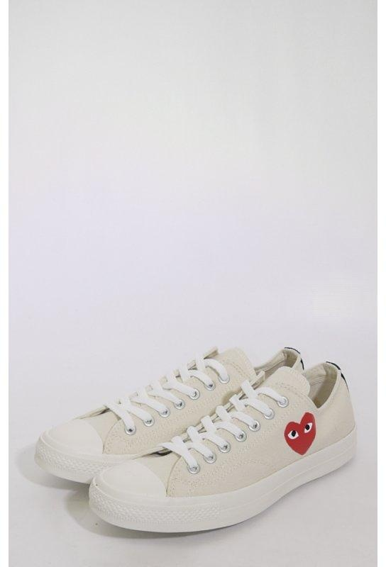 218d24697525 COMME des GARCONS PLAY x Converse All Star Low Cream