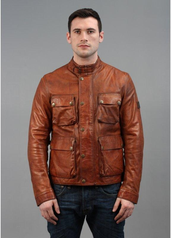 4667f6be217 Belstaff Brad Vent Tan Leather Jacket | Triads