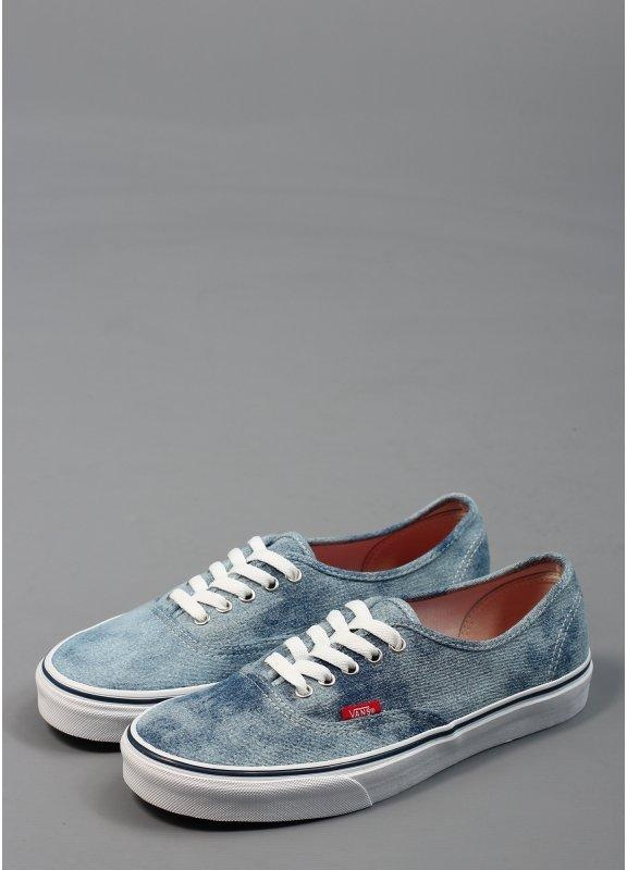 blue denim vans