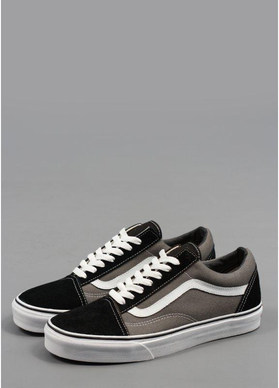Old School Trainers Suede Black Pewter ab769606c