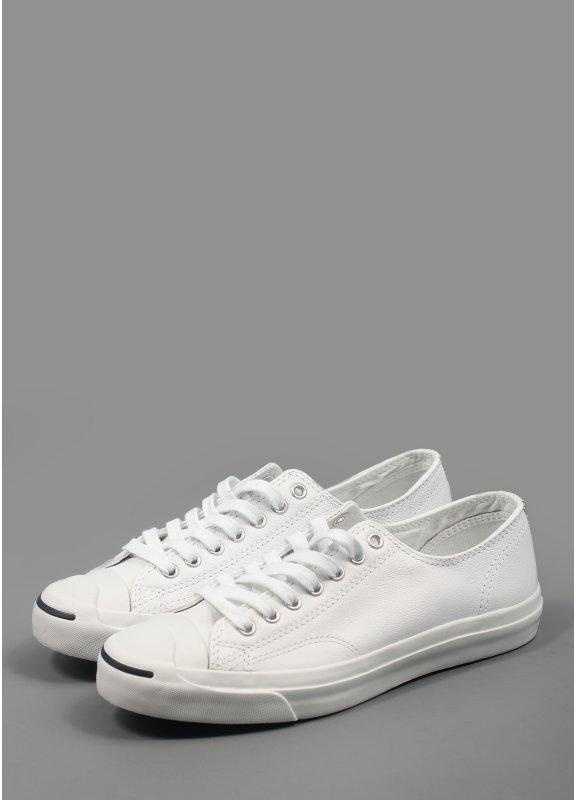 3359364cc4ed Converse Jack Purcell Trainers Ox Leather White Navy