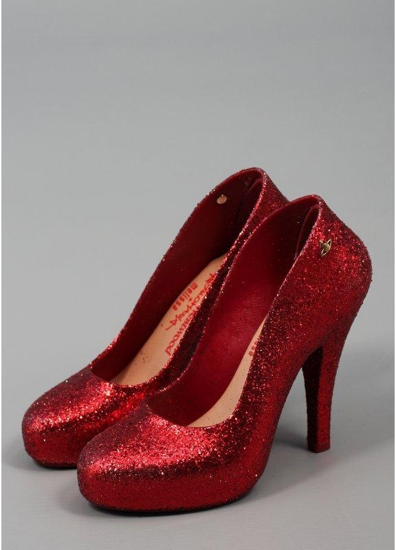 Melissa Red Glitter Shoes