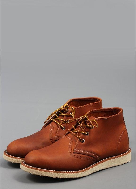 4e7227ec4737d1 Red Wing Chukka Boot 3140 Leather Brown