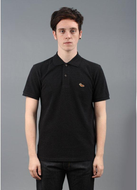 Carhartt Short Sleeved Duck Polo Shirt Black Triads
