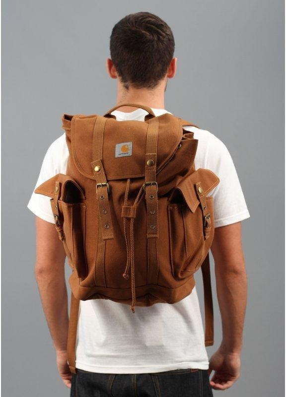 Carhartt Tramp Logo Backpack Brown