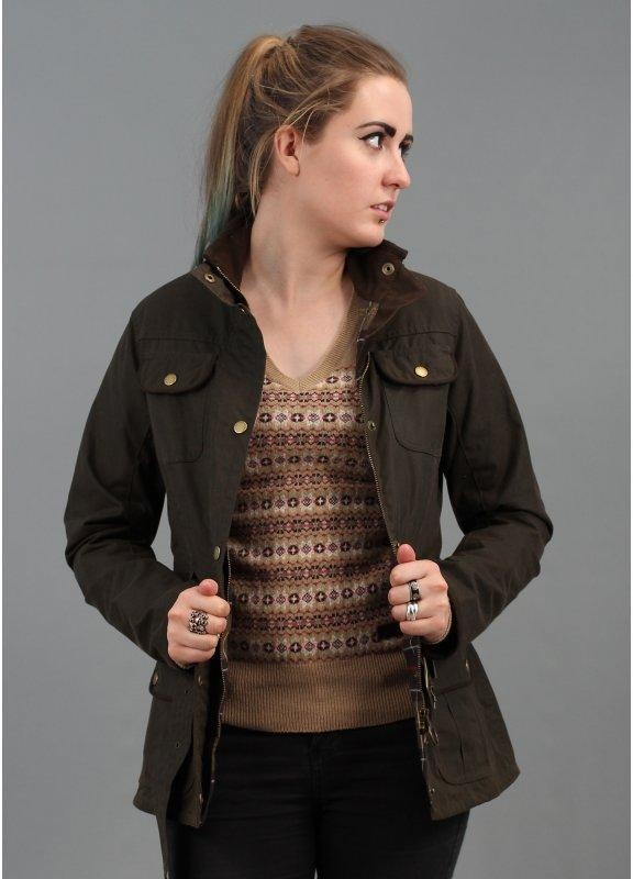 Barbour Womens Utility Jacket Olive