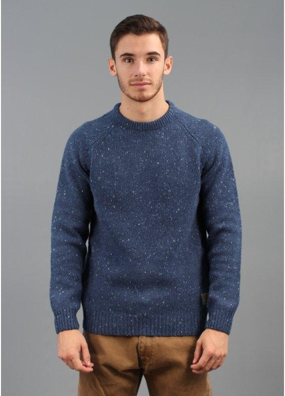 Anglistic Sweater Blue Heather
