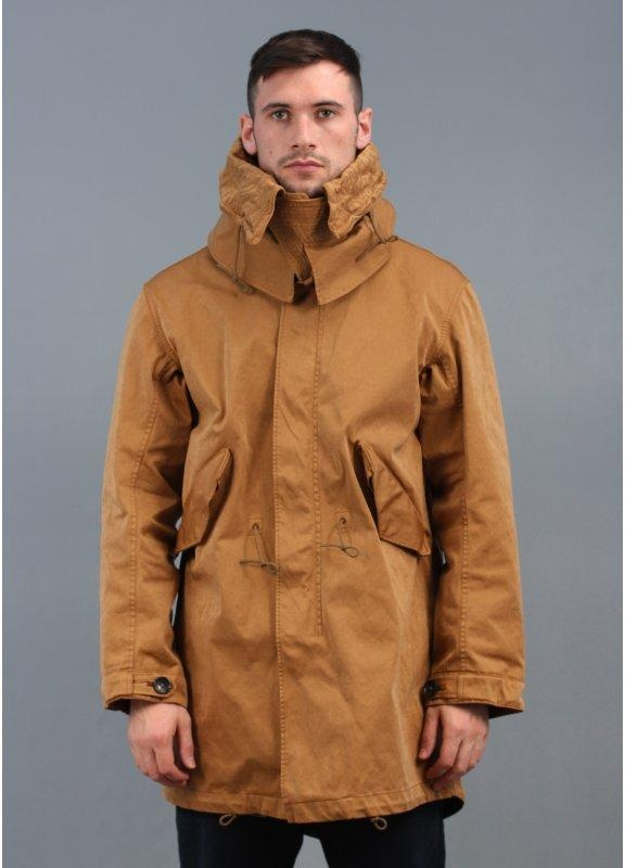 Ten C Fishtail Parka Jacket Brown