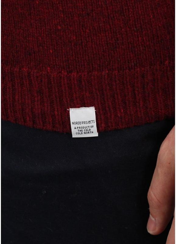 411399243 Norse Projects Karl Moulinex Knitted Jumper Dark Red
