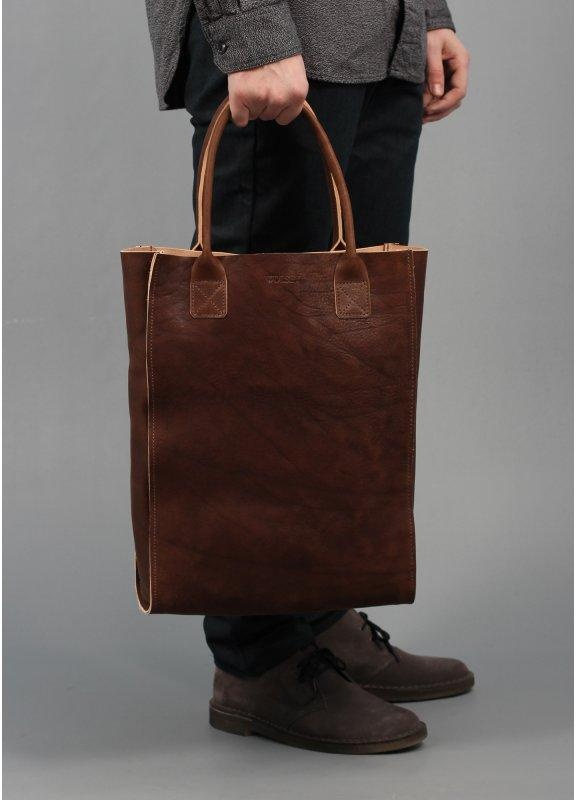 Wolsey Leather Tote Bag Brown