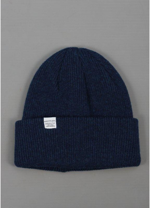 Norse Projects Birnir Top Beanie Blue e75cd86d20b