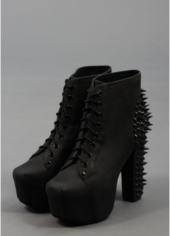 jeffrey campbell lita spikes black black. Black Bedroom Furniture Sets. Home Design Ideas