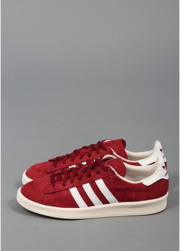 e26d0ad59f4 Adidas Originals Campus 80s Trainers Cardinal Red