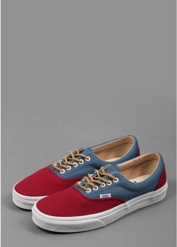 34b6b703311c Vans California Era CA Brushed Twill Trainers Blue Burgundy - Triads ...