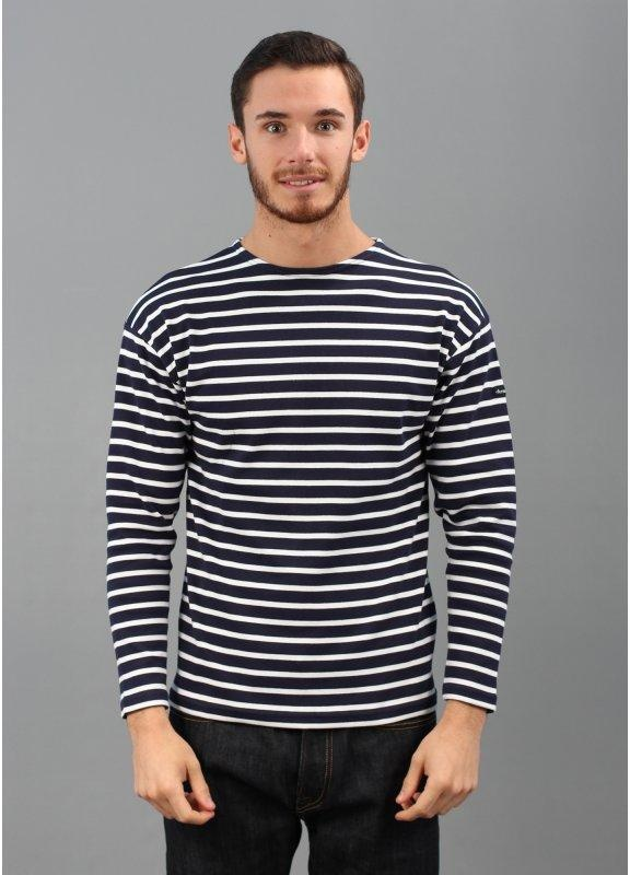 armor lux loctudy breton stripe ls t shirt navy white. Black Bedroom Furniture Sets. Home Design Ideas