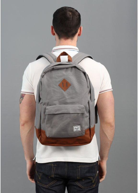 dab3fb4a12 Herschel Supply Co. Heritage Backpack Grey Tan