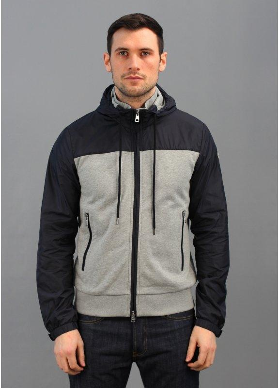 Zip Track Top Navy/Grey