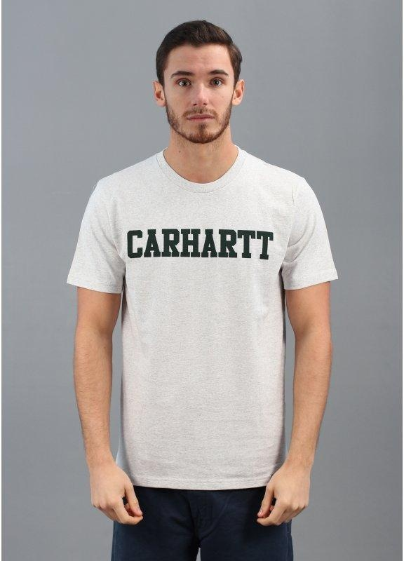 SS College T-Shirt - Ash / Forest