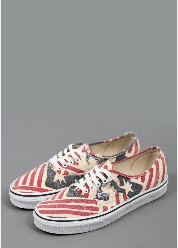 443e4b9791 Vans Authentic (Van Doren) USA Shoes - Retro Flag