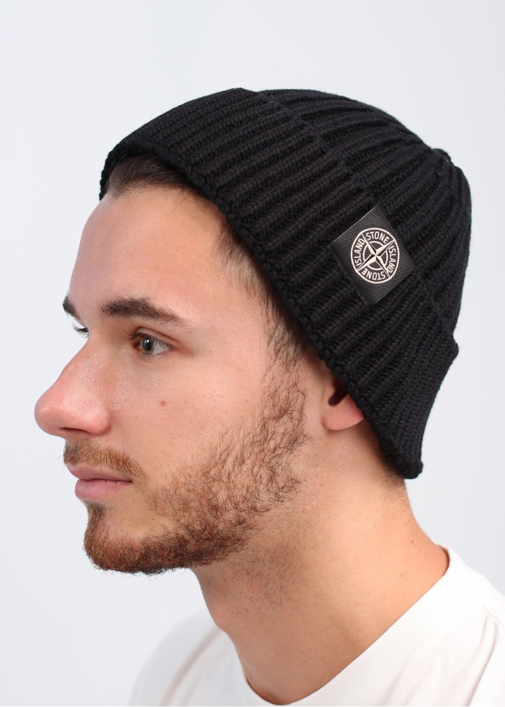 Logo Ribbed Beanie Hat - Black d072a1c4fd8
