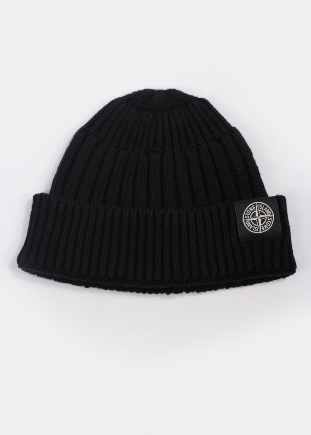 Logo Ribbed Beanie Hat - Black 7b461734038