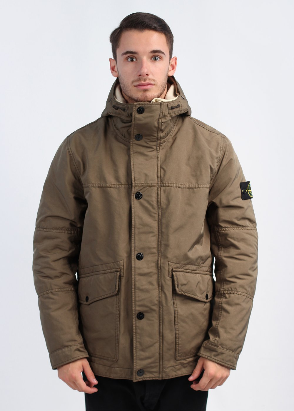 stone island hooded parka jacket walnut. Black Bedroom Furniture Sets. Home Design Ideas