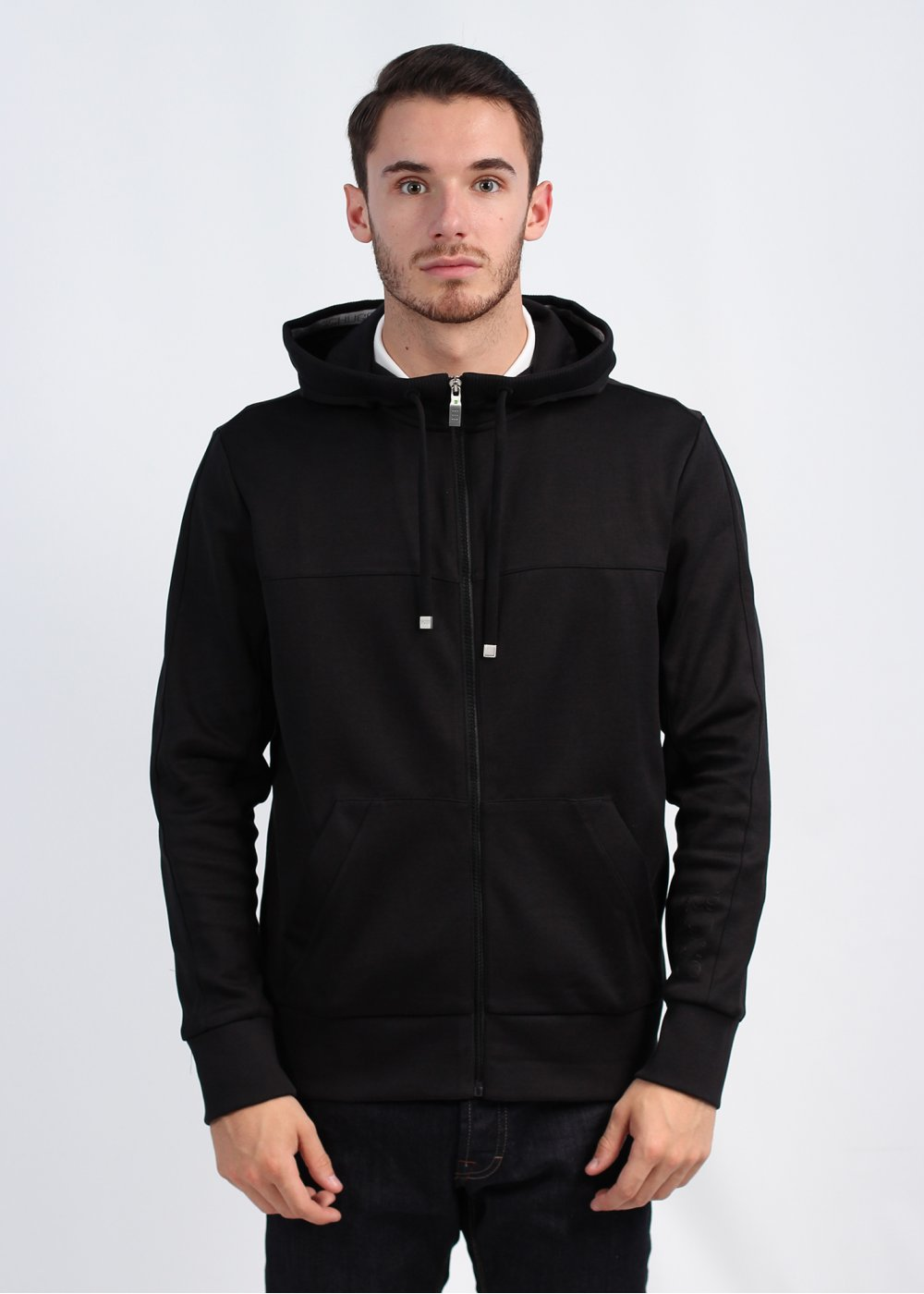 55c9755b9 Hugo Boss Green Saggy Zip Hoody - Black