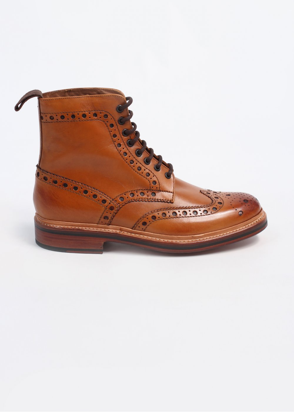 63071d08d15 Grenson Fred Leather Brogue Boots - Tan