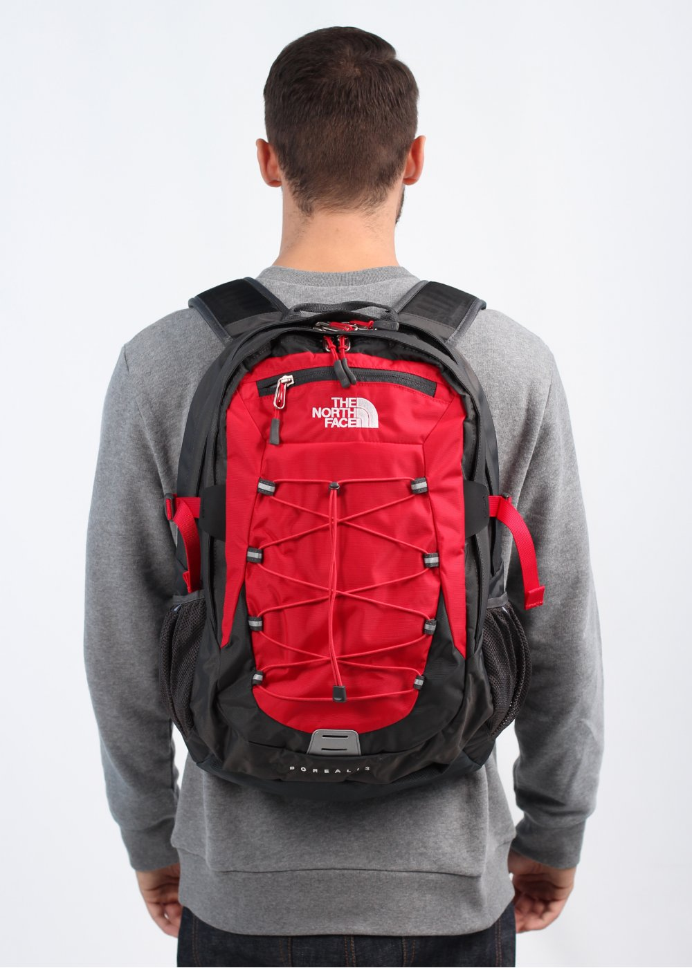 The North Face Borealis Backpack Bag - Red / Grey