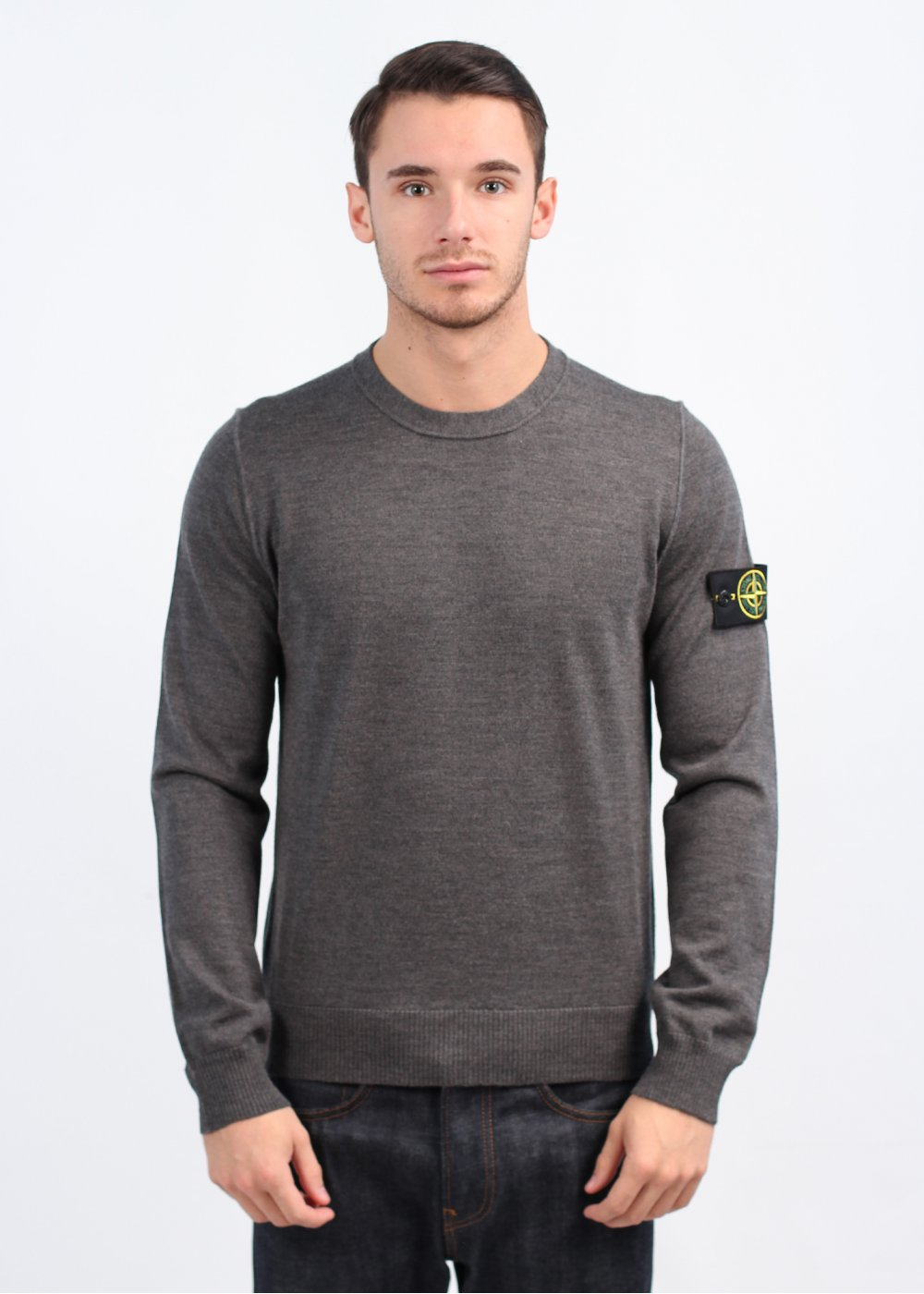 stone island thin sweater grey. Black Bedroom Furniture Sets. Home Design Ideas