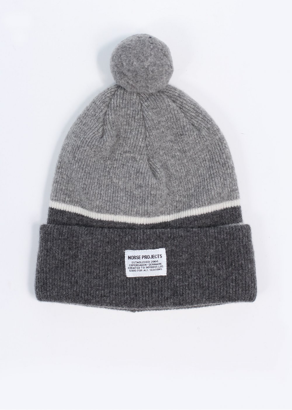 Norse Projects Borderline Lambswool Beanie - Grey 818b2441636