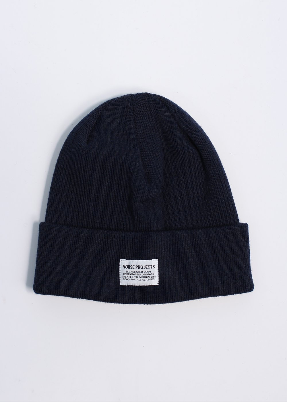 Navy Merino Wool Beanie Norse Projects ijRO3