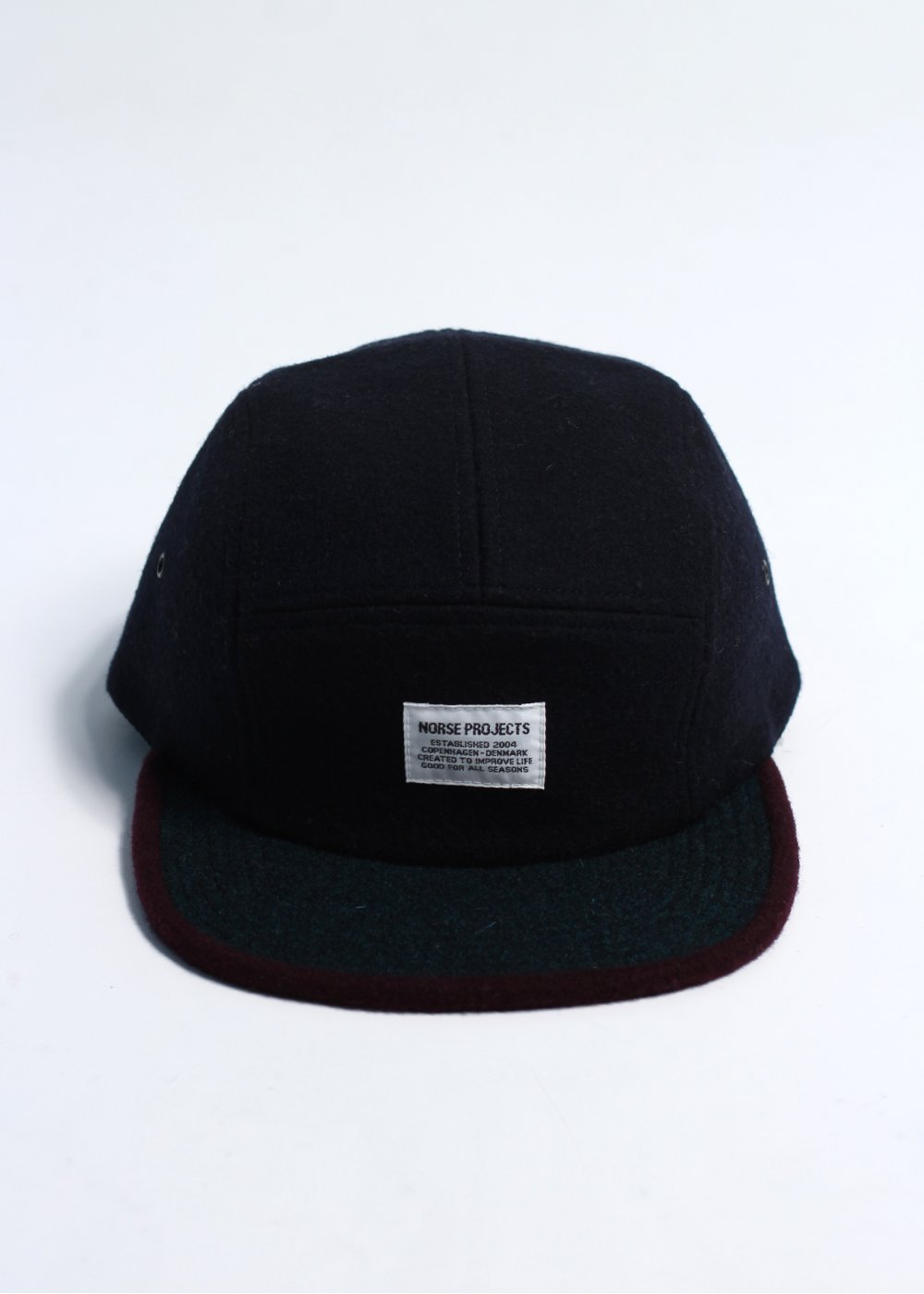 53b504e9dc5 Norse Projects Wool 2 Tone 5 Panel - Navy