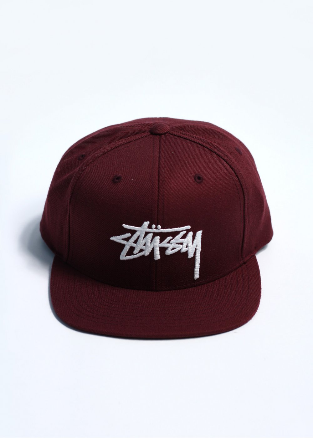 972ee380971 Stussy Classic Stock Snapback - Burgundy