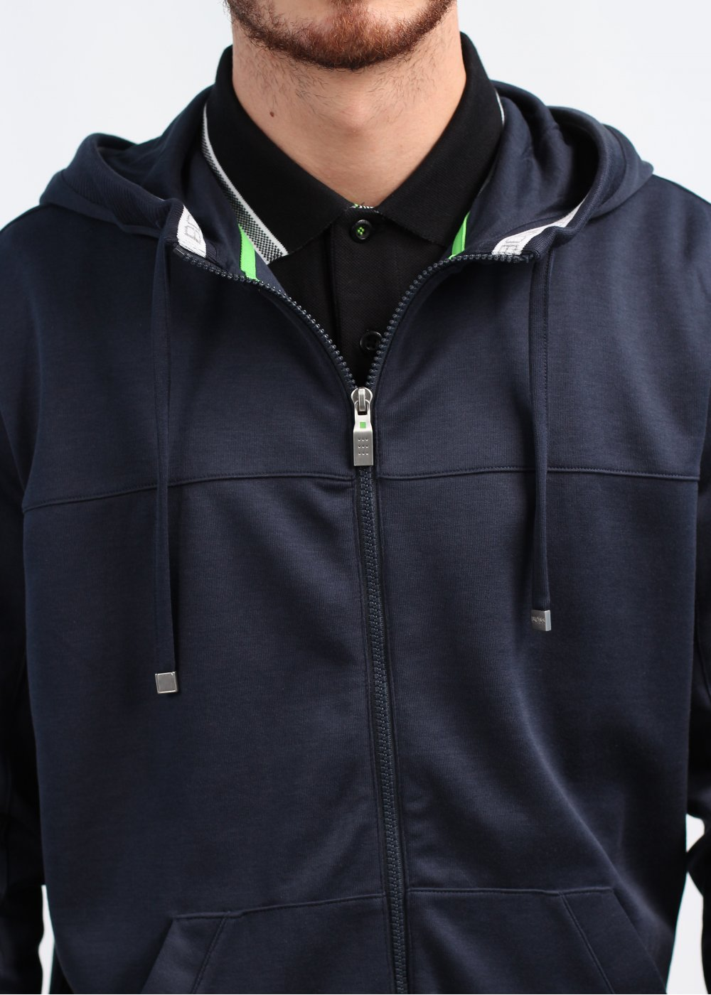 ad23cc7a0 Hugo Boss Green Saggy Zip Hoody - Navy