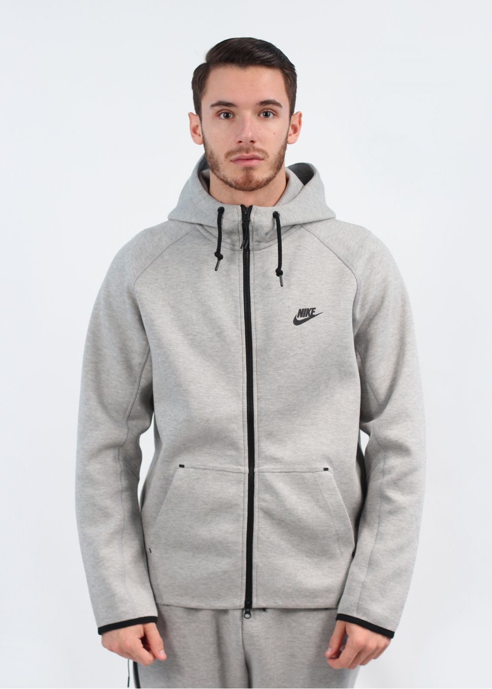 Nike Tech Fleece Hooded Track Jacket - Grey