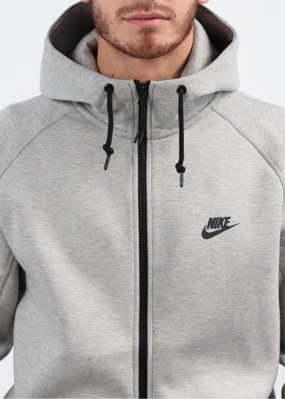 Nike Tech Fleece Hooded Track Jacket - Grey 87aaa3a9e