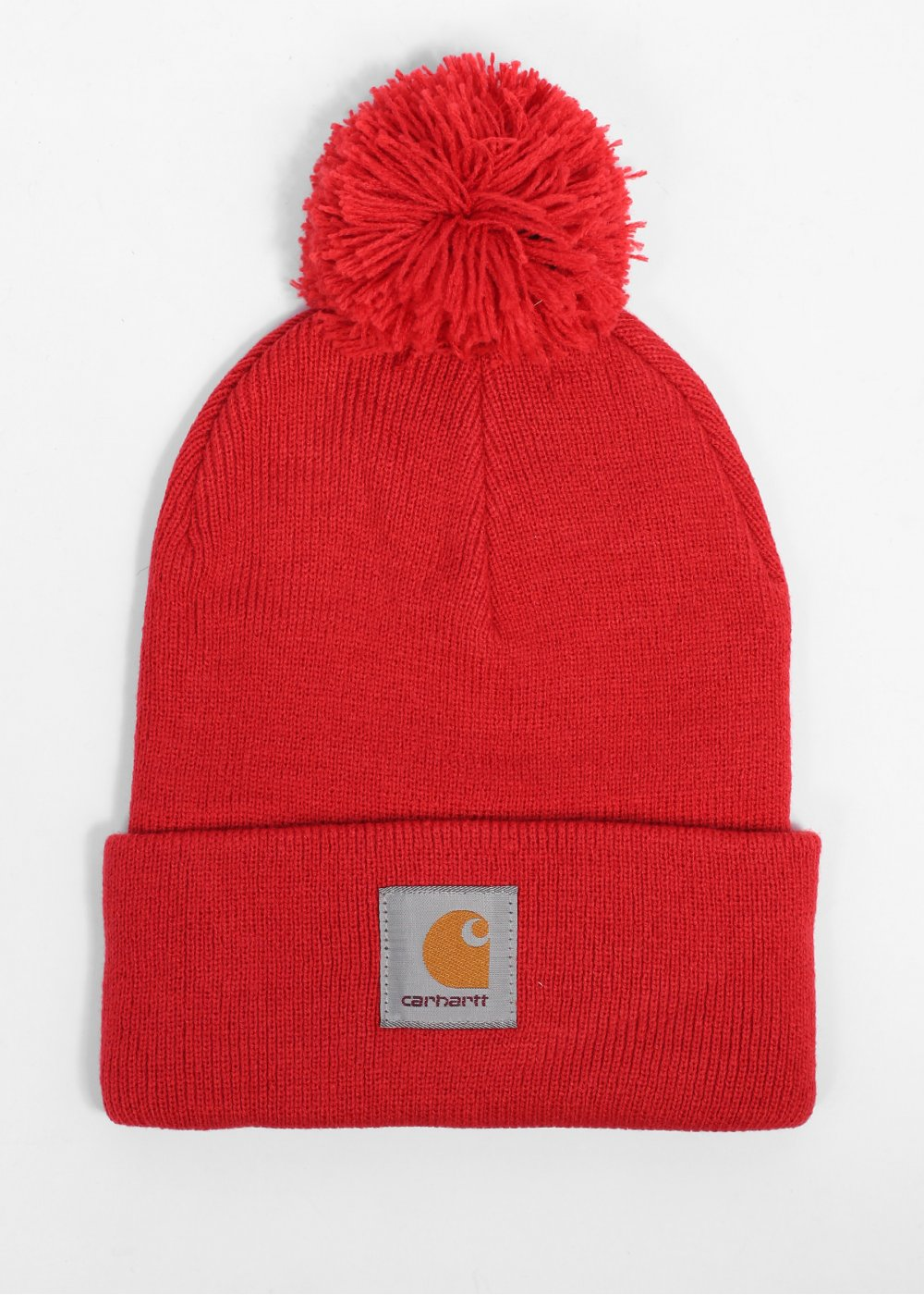 Carhartt Bobble Watch Cap Beanie - Blast Red 48efead0d56