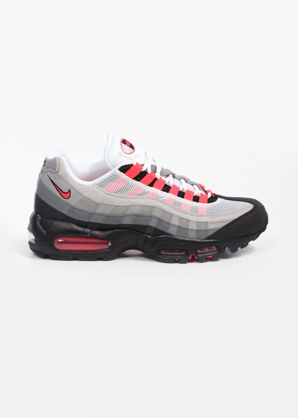 super popular 7f0bc 09e13 Nike Footwear Air Max 95 Trainers - White / Solar Red