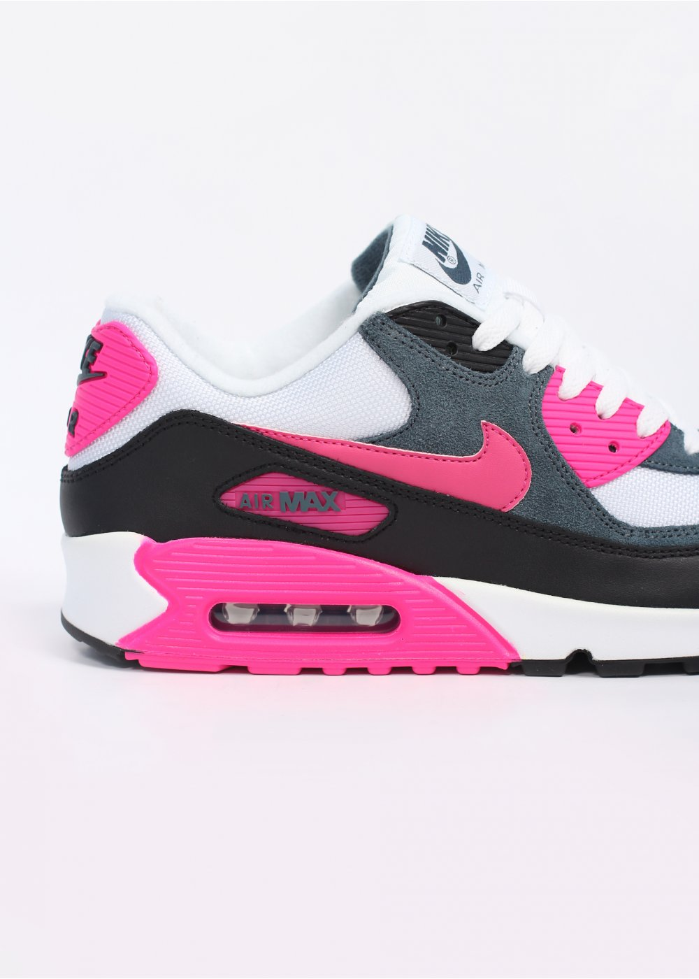 Nike Footwear Air Max 90 Essential Trainers White Pink Foil Black