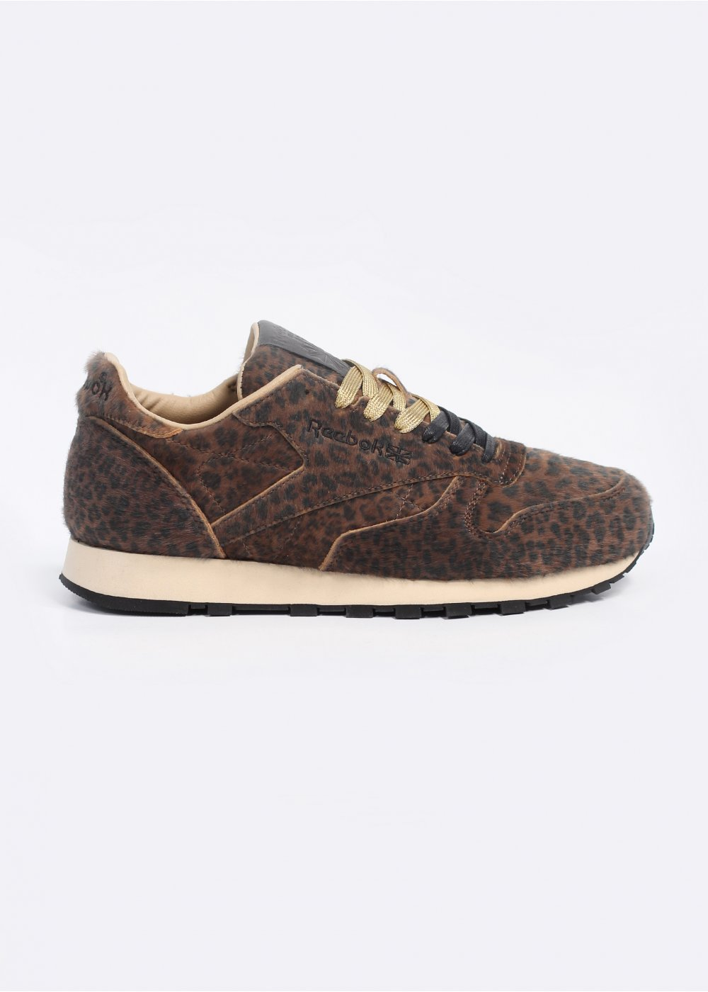 f8b643411a352 x Head Porter Plus Classic Leather Trainers - Vintage Bone   Leopard   Noir  Black