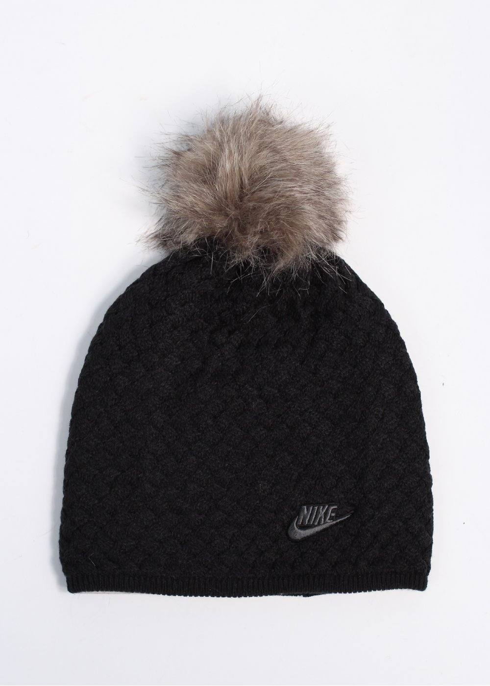 56c65216 Nike Fur Pom Pom Hat - Black