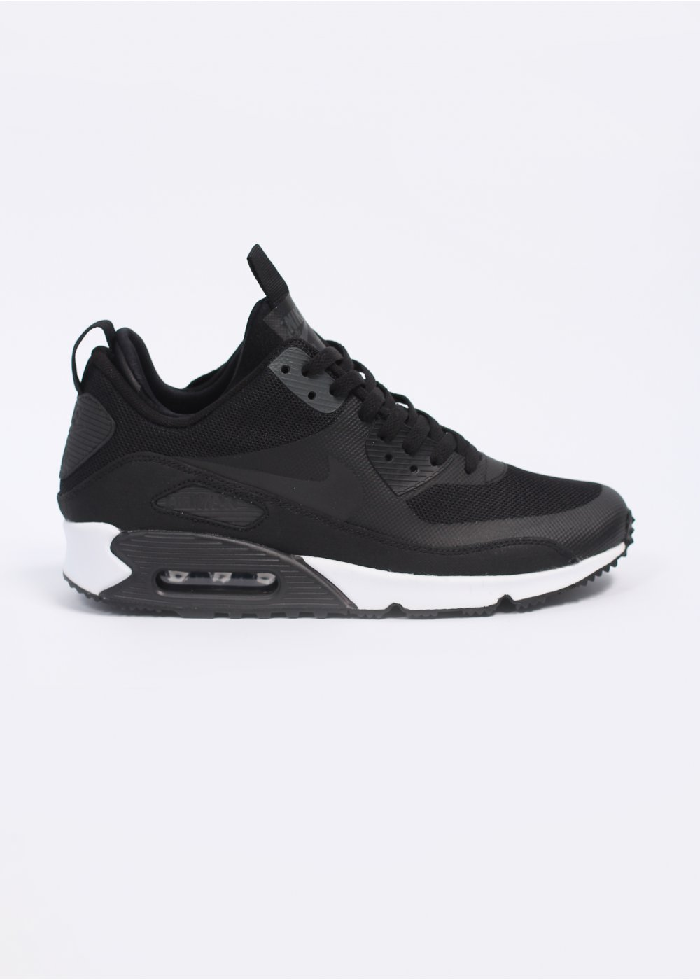 detailed look 85e04 228a7 Air Max 90 Mid Sneaker Boot Trainers - Black  Black  Dark Charcoal
