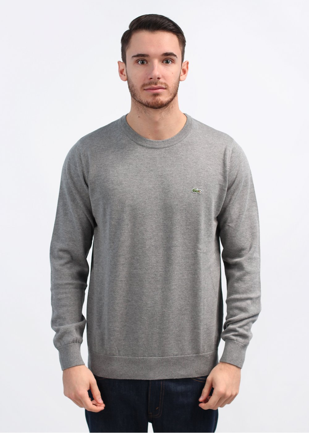 ee33676596a7 Lacoste Crew Neck Sweatshirt - Grey