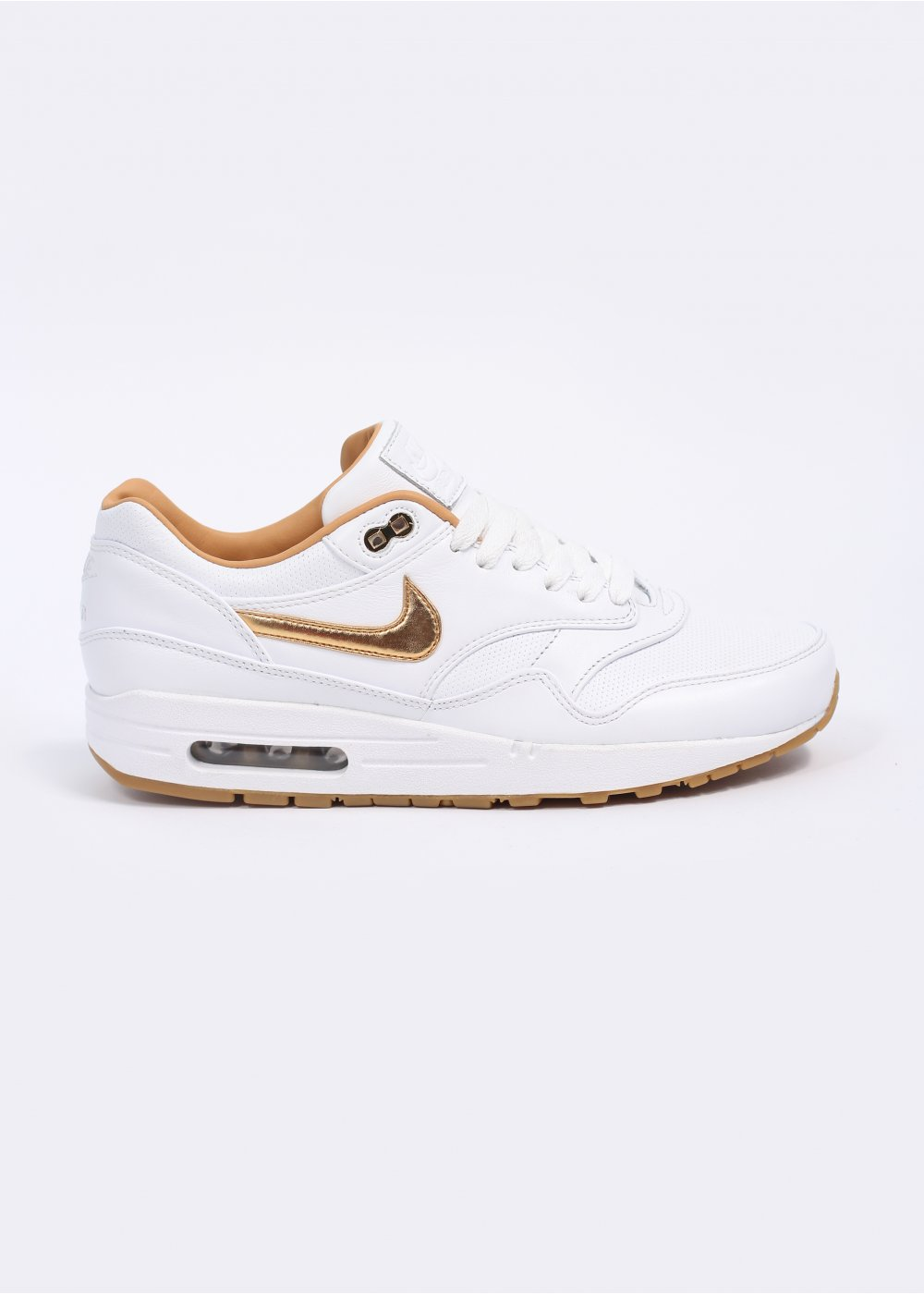 brand new 1d98d 43f2a Air Max 1 FB Woven Trainers - White   Metallic Gold
