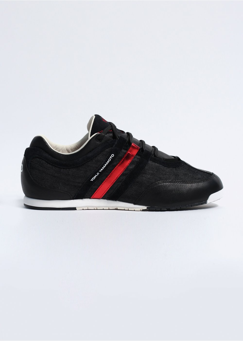 51a15fd688d73 adidas Y-3 Boxing Denim Trainers - Black   Running White