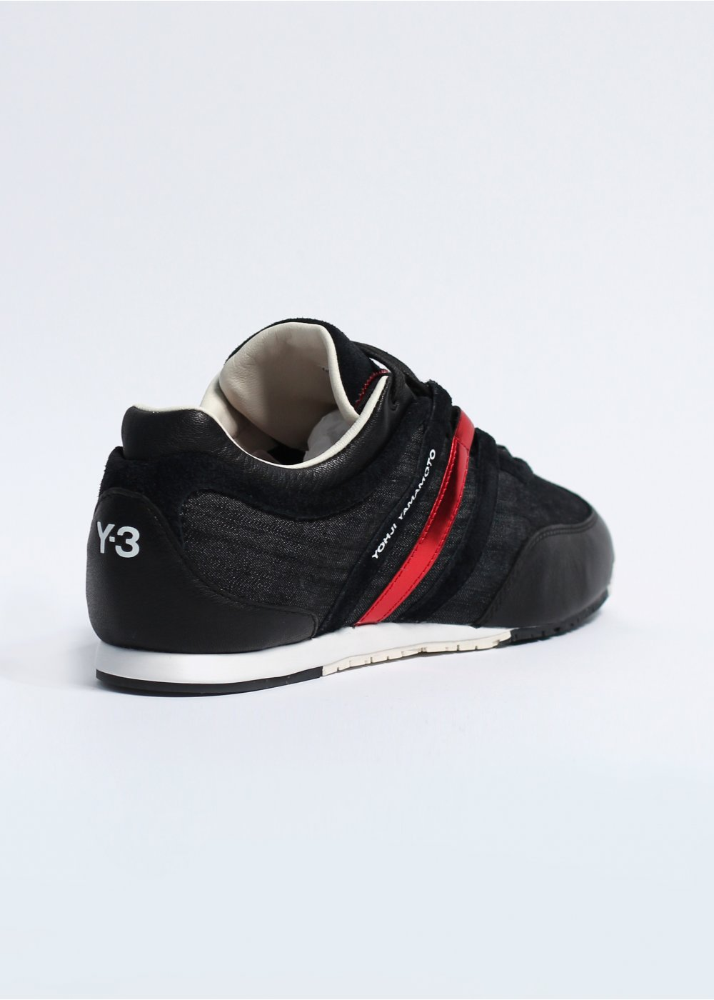 3fb7fec449cf adidas Y-3 Boxing Denim Trainers - Black   Running White