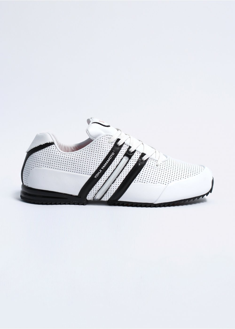 690108de2e9ca adidas Y-3 Sprint Classic II Perforated Leather Trainers Black   White