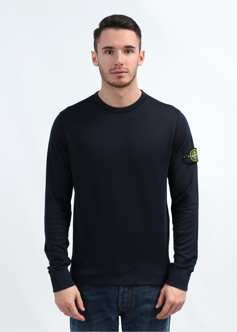 triads stone island seamed crew neck sweatshirt navy. Black Bedroom Furniture Sets. Home Design Ideas