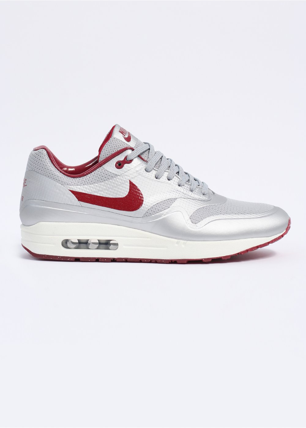 78d51515d8 Air Max 1 Hyperfuse HYP QS Trainers - Metallic Silver / Deep Red